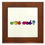Got ASL? Rainbow Framed Tile