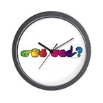 Got ASL? Rainbow Wall Clock
