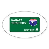 Karate Territory Oval Sticker (10 pk)