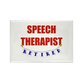 Retired Speech Therapist Rectangle Magnet