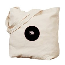 Ella - Pink Name Circle Tote Bag
