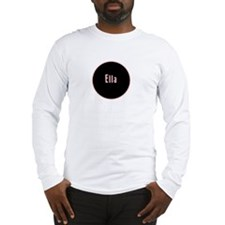 Ella - Pink Name Circle Long Sleeve T-Shirt