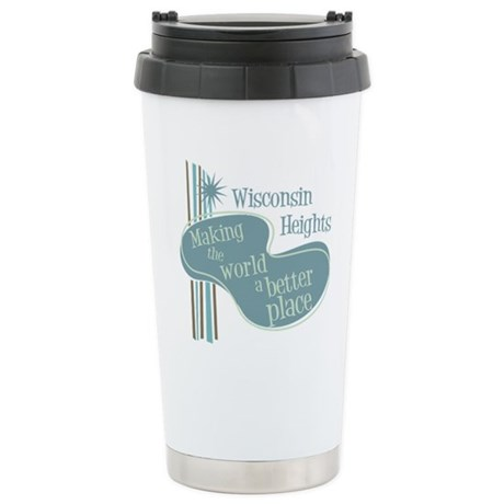 Wisconsin Heights School Ceramic Travel Mug