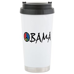 Obama Peace Ceramic Travel Mug
