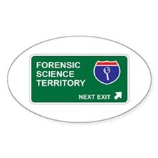 Forensic, Science Territory Oval Decal