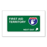 First Aid Territory Rectangle Sticker 10 pk)