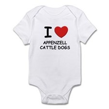 I love APPENZELL CATTLE DOGS Infant Bodysuit