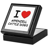I love APPENZELL CATTLE DOGS Keepsake Box