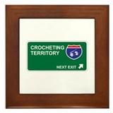 Crocheting Territory Framed Tile