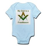 Masonic My Dad is a Freemason Infant Creeper
