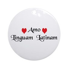 Amo Linguam Latinam Ornament (Round)