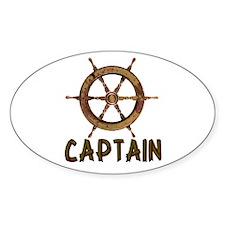 Captain Oval Sticker (50 pk)