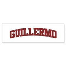 GUILLERMO Design Bumper Bumper Sticker