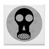 Gas Mask Tile Coaster
