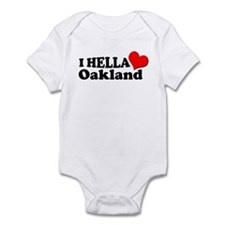 I HELLA LOVE / HEART OAKLAND Infant Bodysuit