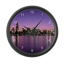 Chicago Nitetime Skyline Large Wall Clock