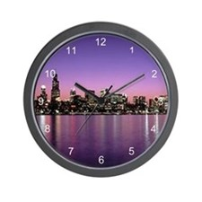 Chicago Nitetime Skyline Wall Clock