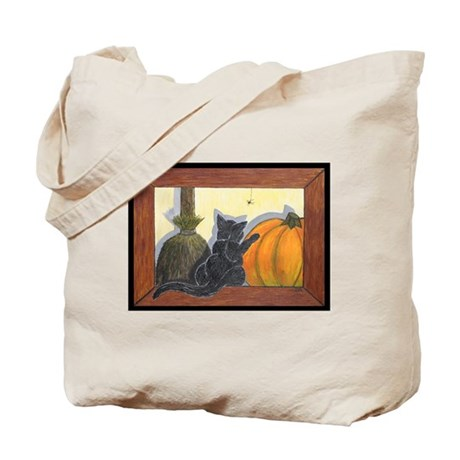 Halloween Cat Trick or Treat Tote Bag