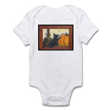 Halloween Cat Infant Creeper
