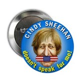 "Cindy Sheehan doesn't speak f 2.25"" Button (100 pa"
