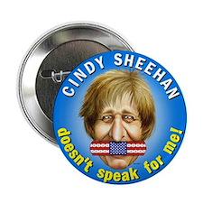 """Cindy Sheehan doesn't speak f 2.25"""" Button (100 pa"""