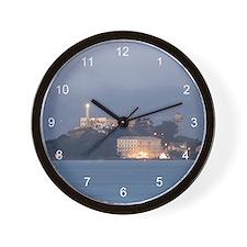 Alcatraz at Dawn Wall Clock