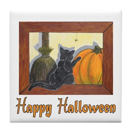 Happy Halloween Tile Coaster
