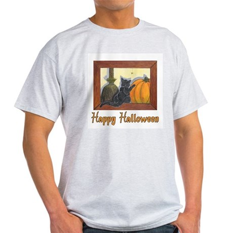 Happy Halloween Ash Grey T-Shirt