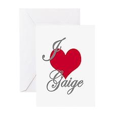 I love (heart) Gaige Greeting Card