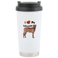 I Love My Bullmastiff Ceramic Travel Mug