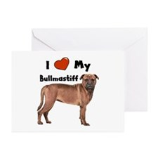 I Love My Bullmastiff Greeting Cards (Pk of 20)