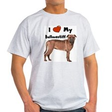 I Love My Bullmastiff T-Shirt