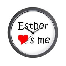 Cute Esther Wall Clock