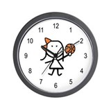 Girl & Basketball Wall Clock