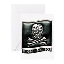 Jolly Rogers VFA-103 Greeting Cards (Pk of 10)