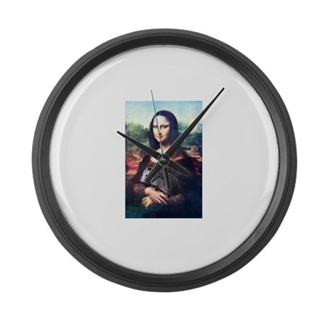 Mona Lisa Possum Large Wall Clock