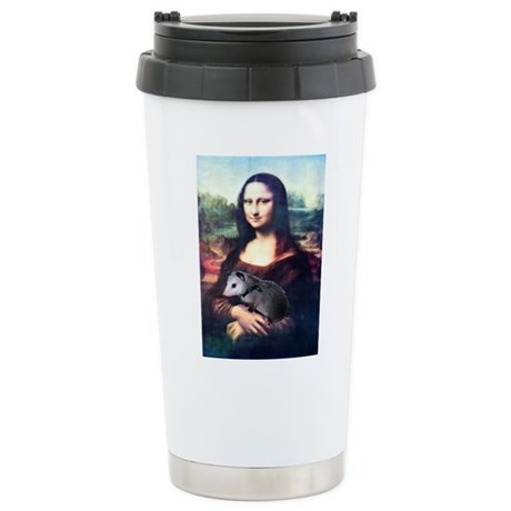 Mona Lisa Possum Ceramic Travel Mug