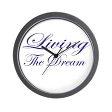 Living the Dream Purple Wall Clock