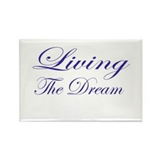 Living the Dream Purple Rectangle Magnet
