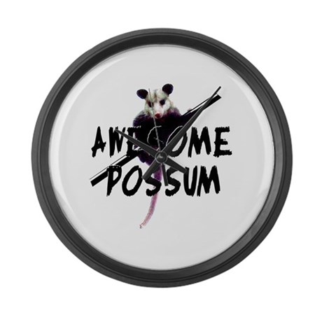 Awesome Possum Large Wall Clock