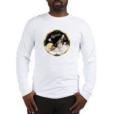 Night Flight/German Shepherd #13 Long Sleeve T-Shi