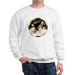 Night Flight/German Shepherd #13 Sweatshirt