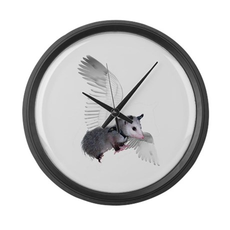 Angel Possum Large Wall Clock
