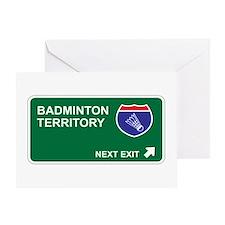 Badminton Territory Greeting Card