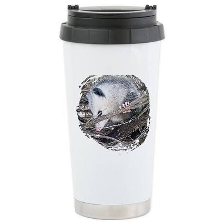 Peek-a-Boo Possum Ceramic Travel Mug