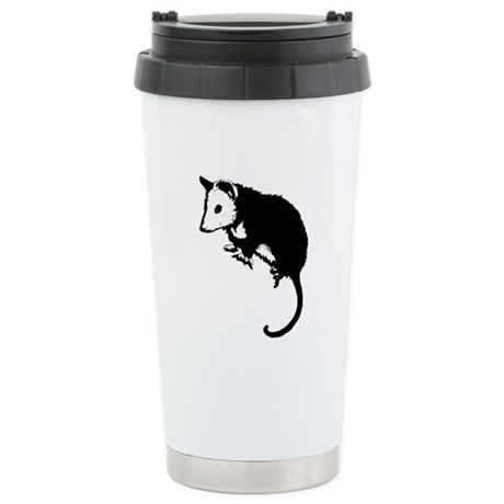 Possum Silhouette Ceramic Travel Mug