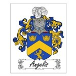 Angelis Family Crest Small Poster