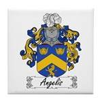 Angelis Family Crest Tile Coaster
