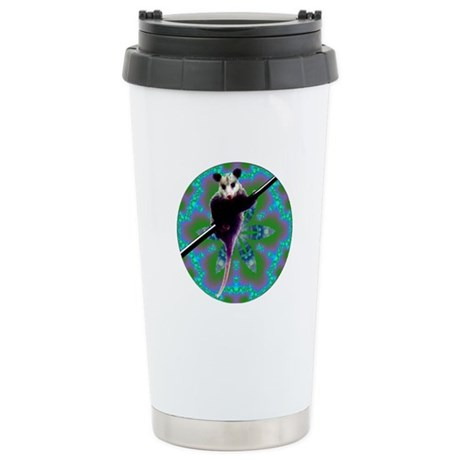 Possum Kaleidoscope Ceramic Travel Mug