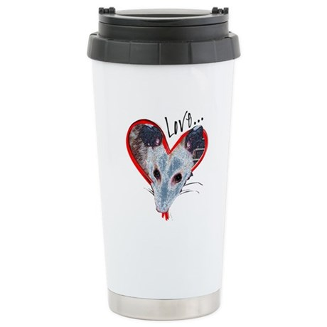 Possum Love Ceramic Travel Mug